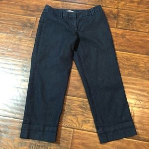 Sz 6 dark denim capris. From the Loft